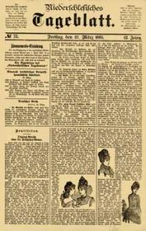 Niederschlesisches Tageblatt, no 73 (Freitag, den 27. März 1885)