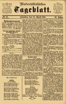 Niederschlesisches Tageblatt, no 91 (Sonntag, den 19. April 1885)