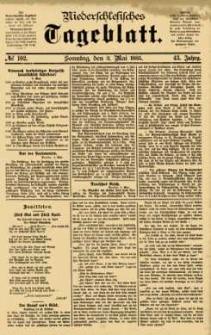 Niederschlesisches Tageblatt, no 102 (Sonntag, den 3. Mai 1885)