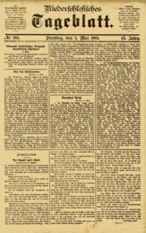 Niederschlesisches Tageblatt, no 103 (Dienstag, den 5. Mai 1885)
