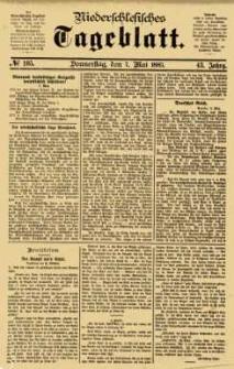Niederschlesisches Tageblatt, no 105 (Donnerstag, den 7. Mai 1885)