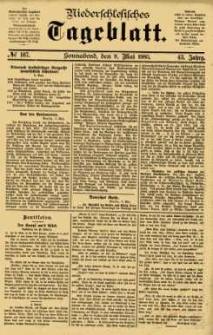 Niederschlesisches Tageblatt, no 107 (Sonnabend, den 9. Mai 1885)