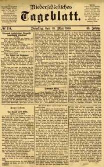 Niederschlesisches Tageblatt, no 114 (Dienstag, den 19. Mai 1885)