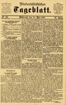 Niederschlesisches Tageblatt, no 120 (Mittwoch, den 27. Mai 1885)