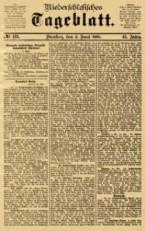 Niederschlesisches Tageblatt, no 125 (Dienstag, den 2. Juni 1885)