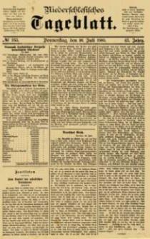 Niederschlesisches Tageblatt, no 163 (Donnerstag, den 16. Juli 1885)