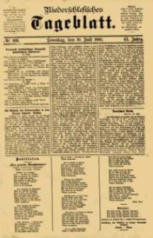 Niederschlesisches Tageblatt, no 166 (Sonntag, den 19. Juli 1885)