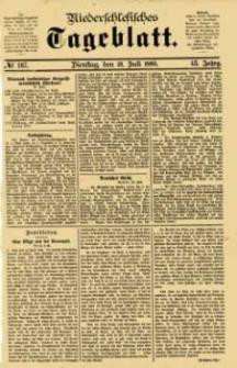 Niederschlesisches Tageblatt, no 167 (Dienstag, den 21. Juli 1885)