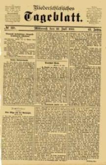 Niederschlesisches Tageblatt, no 168 (Mittwoch, den 22. Juli 1885)