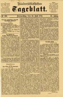 Niederschlesisches Tageblatt, no 169 (Donnerstag, den 23. Juli 1885)