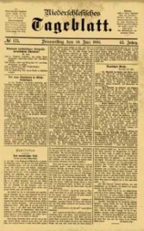 Niederschlesisches Tageblatt, no 175 (Donnerstag, den 30. Juli 1885)