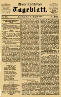 Niederschlesisches Tageblatt, no 178 (Sonntag, den 2. August 1885)