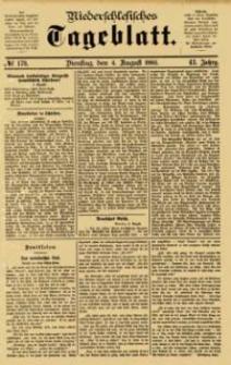 Niederschlesisches Tageblatt, no 179 (Dienstag, den 4. August 1885)