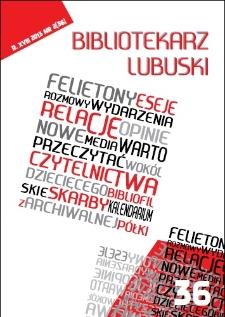Bibliotekarz Lubuski. R. 18, 2013, nr 2 (36)