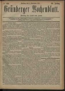 Grünberger Wochenblatt: Zeitung für Stadt und Land, No. 131. (2. November 1883)