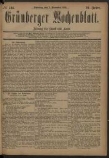 Grünberger Wochenblatt: Zeitung für Stadt und Land, No. 144. (2. December 1883)