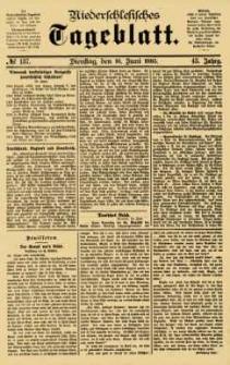 Niederschlesisches Tageblatt, no 137 (Dienstag, den 16. Juni 1885)