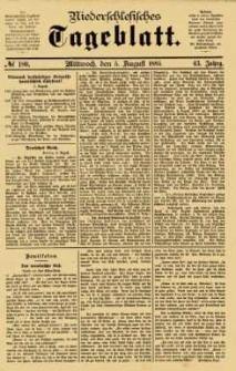 Niederschlesisches Tageblatt, no 180 (Mittwoch, den 5. August 1885)