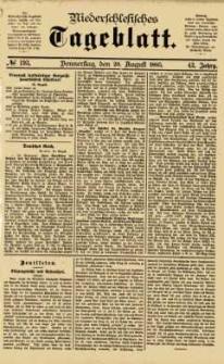 Niederschlesisches Tageblatt, no 193 (Donnerstag, den 20. August 1885)