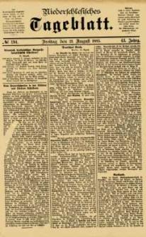 Niederschlesisches Tageblatt, no 194 (Freitag, den 21. August 1885)