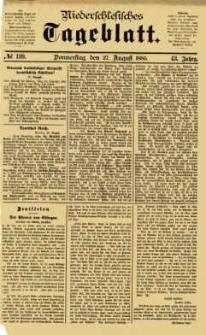 Niederschlesisches Tageblatt, no 199 (Donnerstag, den 27. August 1885)