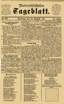 Niederschlesisches Tageblatt, no 202 (Sonntag, den 30. August 1885)