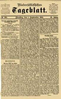 Niederschlesisches Tageblatt, no 203 (Dienstag, den 1. September 1885)