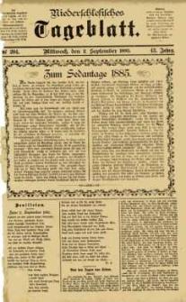 Niederschlesisches Tageblatt, no 204 (Mittwoch, den 2. September 1885)