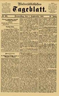 Niederschlesisches Tageblatt, no 205 (Donnerstag, den 3. September 1885)