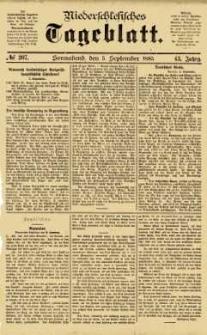 Niederschlesisches Tageblatt, no 207 (Sonnabend, den 5. September 1885)