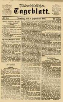 Niederschlesisches Tageblatt, no 209 (Dienstag, den 8. September 1885)