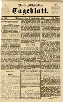 Niederschlesisches Tageblatt, no 210 (Mittwoch, den 9. September 1885)