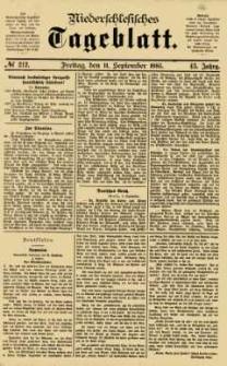 Niederschlesisches Tageblatt, no 212 (Freitag, den 11. September 1885)