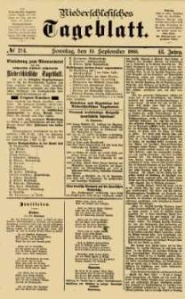 Niederschlesisches Tageblatt, no 214 (Sonntag, den 13. September 1885)