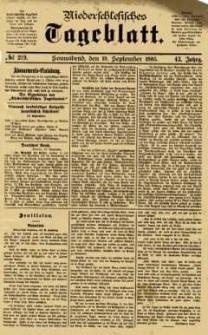 Niederschlesisches Tageblatt, no 219 (Sonnabend, den 19. September 1885)