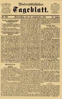 Niederschlesisches Tageblatt, no 223 (Donnerstag, den 24. September 1885)