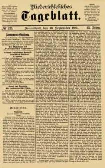 Niederschlesisches Tageblatt, no 225 (Sonnabend, den 26. September 1885)