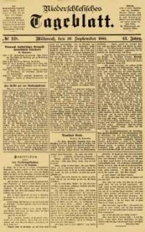 Niederschlesisches Tageblatt, no 228 (Mittwoch, den 30. September 1885)