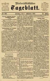 Niederschlesisches Tageblatt, no 230 (Freitag, den 1. Oktober 1885)