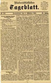 Niederschlesisches Tageblatt, no 231 (Sonnabend, den 3. Oktober 1885)