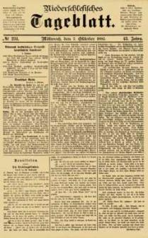 Niederschlesisches Tageblatt, no 234 (Mittwoch, den 7. Oktober 1885)