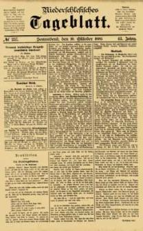 Niederschlesisches Tageblatt, no 237 (Sonnabend, den 10. Oktober 1885)
