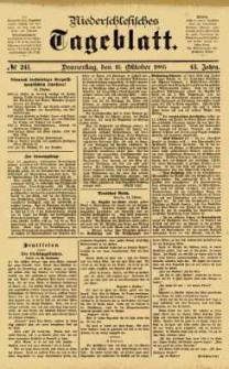 Niederschlesisches Tageblatt, no 241 (Donnerstag, den 15. Oktober 1885)