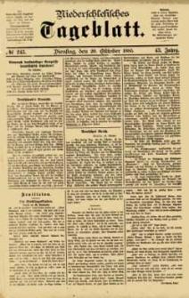 Niederschlesisches Tageblatt, no 245 (Dienstag, den 20. Oktober 1885)