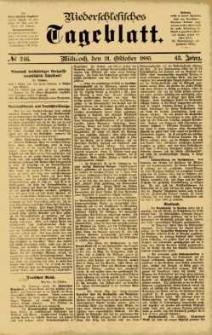Niederschlesisches Tageblatt, no 246 (Mittwoch, den 21. Oktober 1885)
