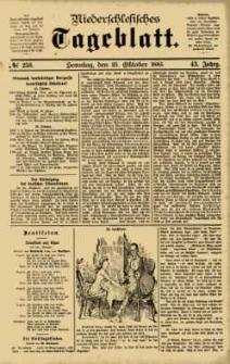 Niederschlesisches Tageblatt, no 250 (Sonntag, den 25. Oktober 1885)