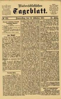 Niederschlesisches Tageblatt, no 253 (Donnerstag, den 29. Oktober 1885)