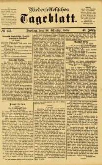 Niederschlesisches Tageblatt, no 254 (Freitag, den 30. Oktober 1885)