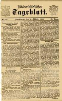 Niederschlesisches Tageblatt, no 255 (Sonnabend, den 31. Oktober 1885)