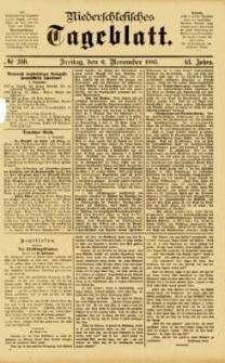 Niederschlesisches Tageblatt, no 260 (Freitag, den 6. November 1885)
